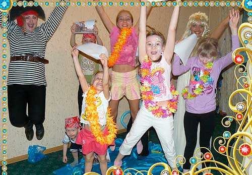 Детский праздник в гавайском стиле