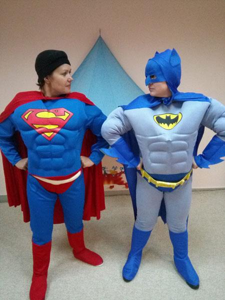 День рождения с Бэтменом и Суперменом