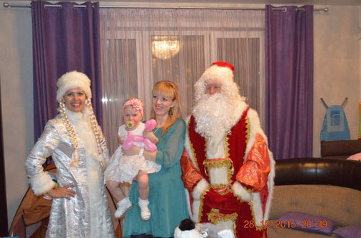Дед Мороз и Снегурка в Коломне