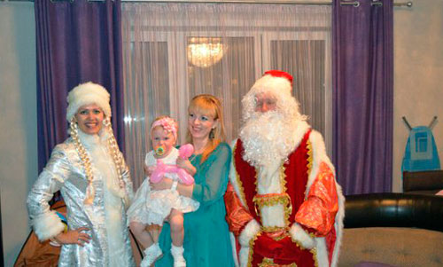 Дед Мороз и Снегурочка на Новый год
